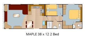 Maple 38×12 2 Bed