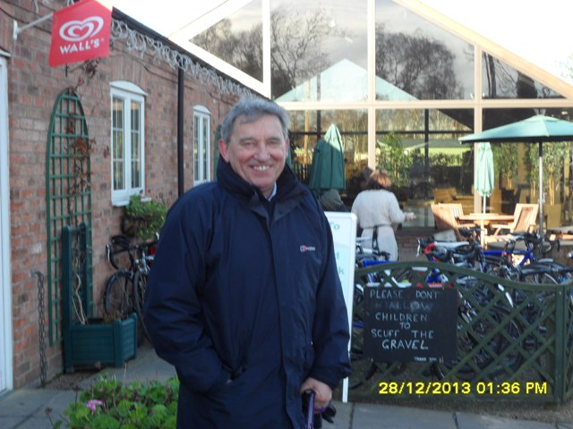 Former England Manager Graham Taylor on another visit to Kingfisher Cafe!